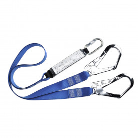 Double Lanyard Webbing With Shock Absorber